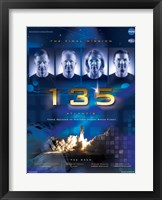 Framed NASA STS-135 Official Mission Poster