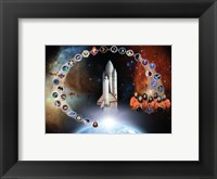 Framed Space Shuttle Columbia Tribute Poster