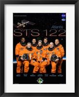Framed STS 122 Mission Poster
