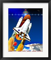 Framed STS 123 Mission Poster
