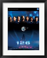 Framed STS 126 Mission Poster