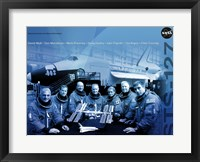 Framed STS 127 Mission Poster