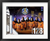 Framed STS 128 Mission Poster
