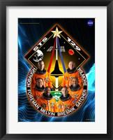 Framed STS 129 Mission Poster