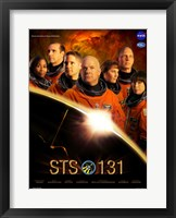 Framed STS 131 Crew Poster
