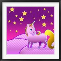 Framed Stary Sky Unicorn