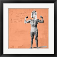 Framed Muscle Man Unicorn