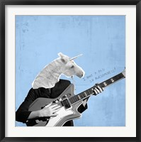 Framed Awesome Unicorn