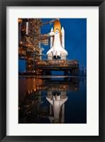 Framed Atlantis STS-135 Rainwater Reflection on Pad