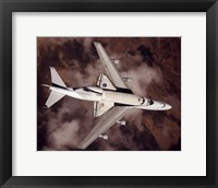 Framed B747 with Space Shuttle on it from Above