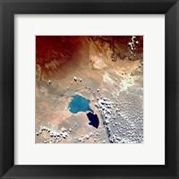 Cerros Colorados Argentina from Space Taken by Atlantis Framed Print