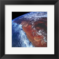 Coastal Namibia photographed from the Space Shuttle Columbia Framed Print