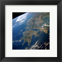 Greece from Space Framed Print