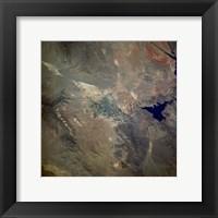 Framed Las Vegas from space as taken by shuttle atlantis