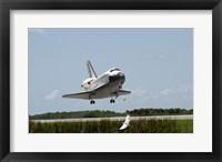 Framed NASA Space Shuttle Atlantis Landing