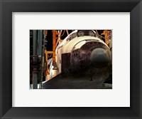 Framed Space Shuttle Atlantis under construction