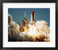 Framed Space Shuttle Challenger