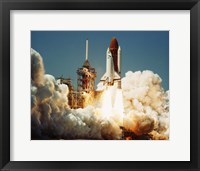 Framed Space Shuttle Challenger