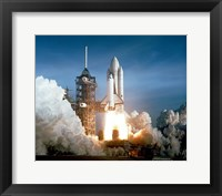 Framed Space Shuttle Columbia launching