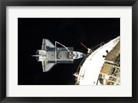 Framed STS132 Atlantis undocking