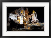 Framed STS-135 Atlantis and payload canister on Launch Pad