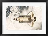 Framed View of the Space Shuttle Discovery