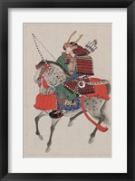 Framed Samurai Riding a Horse