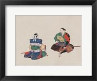 Framed Seated Samurai Warriors