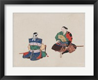 Framed Seated Samurai Warriors