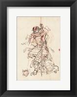 Framed Samurai Sketch