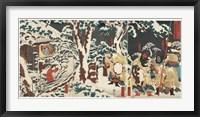 Framed Samurai Triptych Panel