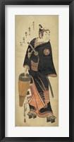 Framed Samurai In Black