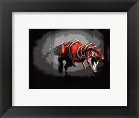 Framed T-rex Red Series