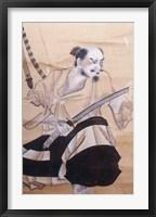 Framed Baba Nobufusa Samurai