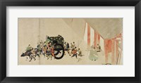 Framed Emperor Nijo escaping from the Imperial Palace to the Rokuhara mansi