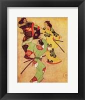 Framed Iwasa Katsushige samurai