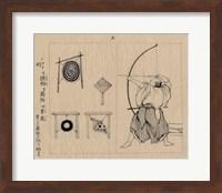 Framed Japanese archer 1878b