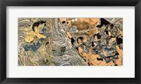 Framed Kuniyoshi Utagawa, The ghost of Taira Tomomori, Daimotsu bay