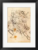 Framed Samurai holding a halberd