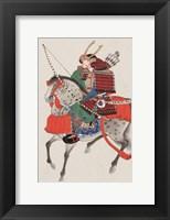Framed Samurai on horseback