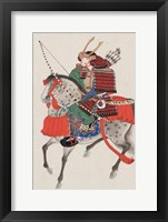 Framed Samurai on horseback