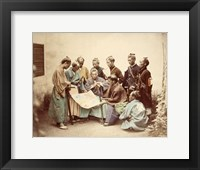Framed Satsuma samurai during boshin war period