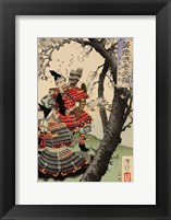 Framed Yoshitsune with Benkei