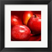 Red Mangoes Framed Print