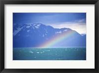 Framed Rainbow over a sea, Resurrection Bay, Kenai Fjords National Park, Alaska, USA