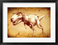 Framed T Rex Sketch