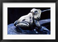 Framed Canada, British Columbia,  Butchart Gardens, sculpture frog, fountain