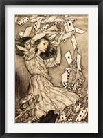 Framed Alice in Wonderland - cards