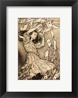 Framed Alice in Wonderland - cards