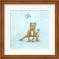 Framed Yoga Cat I